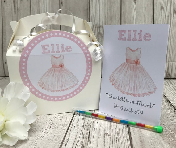 Personalised Childrens Wedding Activity Box and Pack | Table Favour | Party Bag | Wedding Favour Gift