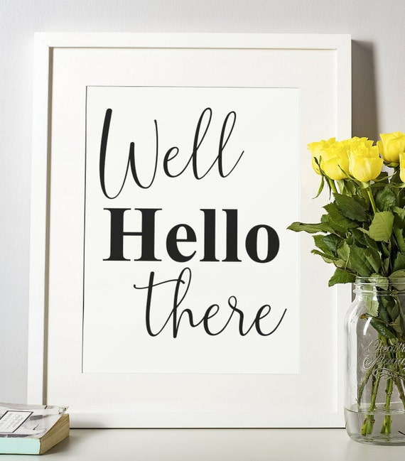 Word Poster | Room Decor | Wall Art Print | Gift Idea | A4 & A3 | Hello There | Print Only