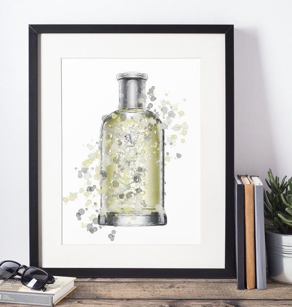 Aftershave Poster | Room Decor | Wall Art Print | Gift Idea | A4 & A3 | Liquid| Print Only