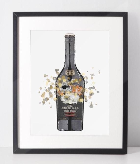 Liqueur Poster | Room Decor | Wall Art Print | Gift Idea | A4 & A3 | Cream | Print Only
