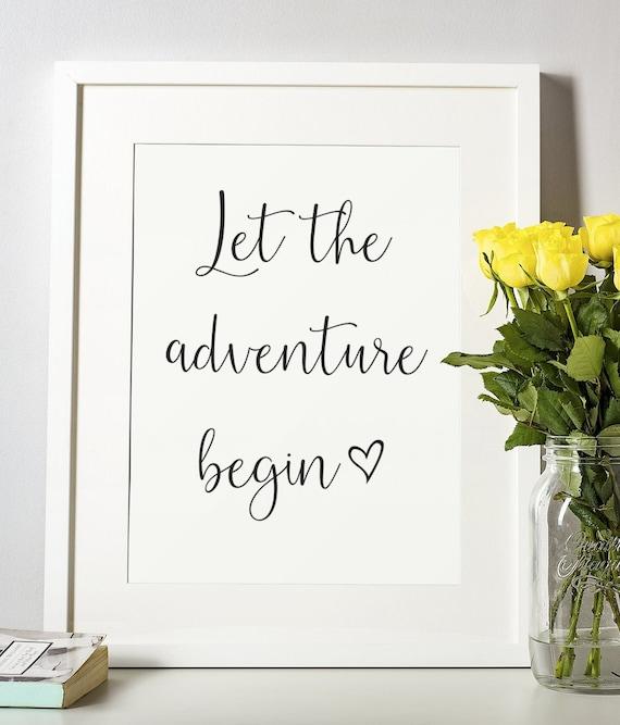 Word Poster | Room Decor | Wall Art Print | Gift Idea | A4 & A3 | Adventure Begin | Print Only