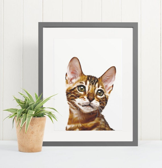 Bengal Cat | Art Print Poster | Room Decor | Wall Art Print | Gift Idea | A4 & A3 | Cats | Print Only
