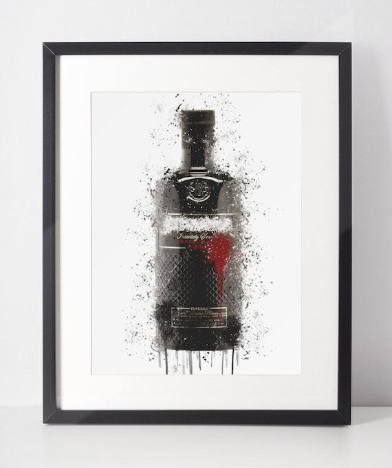 Gin Poster | Room Decor | Wall Art Print | Gift Idea | A4 & A3 | Berry | Print Only