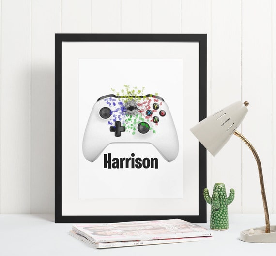 Gamer Poster | Personalised | Room Decor | Wall Art Print | Gift Idea | A4 & A3 | XBox Controller | Print Only