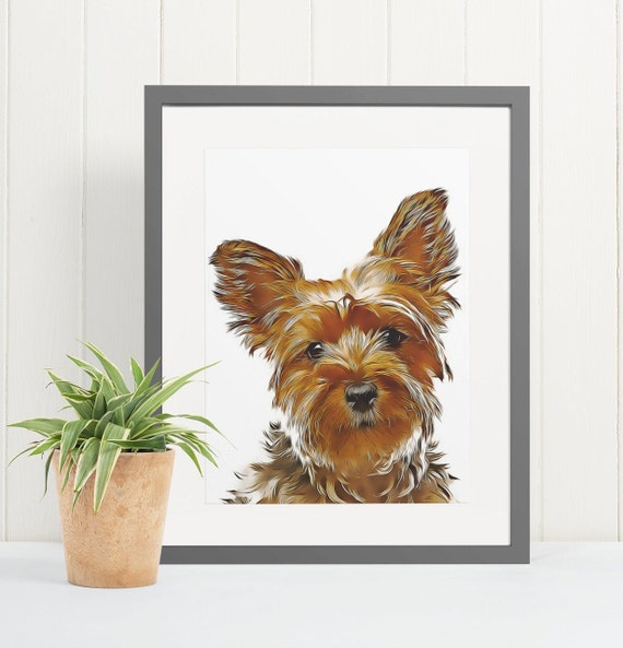 Yorkshire Terrier | Art Print Poster | Room Decor | Wall Art Print | Gift Idea | A4 & A3 | Dog | Print Only