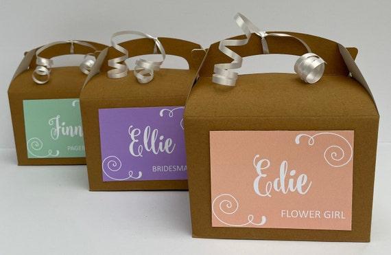 Personalised Wedding Favour Gift Box Brown Kraft Box