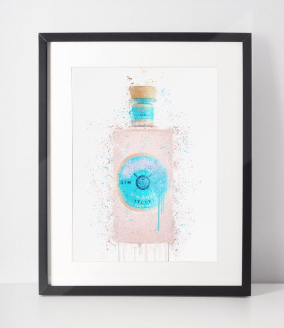Gin Poster | Room Decor | Wall Art Print | Gift Idea | A4 & A3 | Pink Grapefruit | Print Only