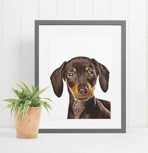 Dachshund | Art Print Poster | Room Decor | Wall Art Print | Gift Idea | A4 & A3 | Dog | Print Only