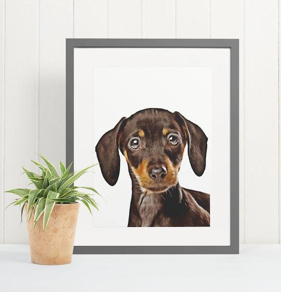 Dachshund | Art Print Poster | Room Decor | Wall Art Print | Gift Idea | A4 & A3 | Dog | Print Only