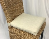 Rattan or Wicker Chair Cushions Premier Prints Slub Linen Cushions - Kubo Chair Cushion- Chair Pads - 37 quot single wide ties