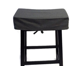 Bar Stool Cover in Black