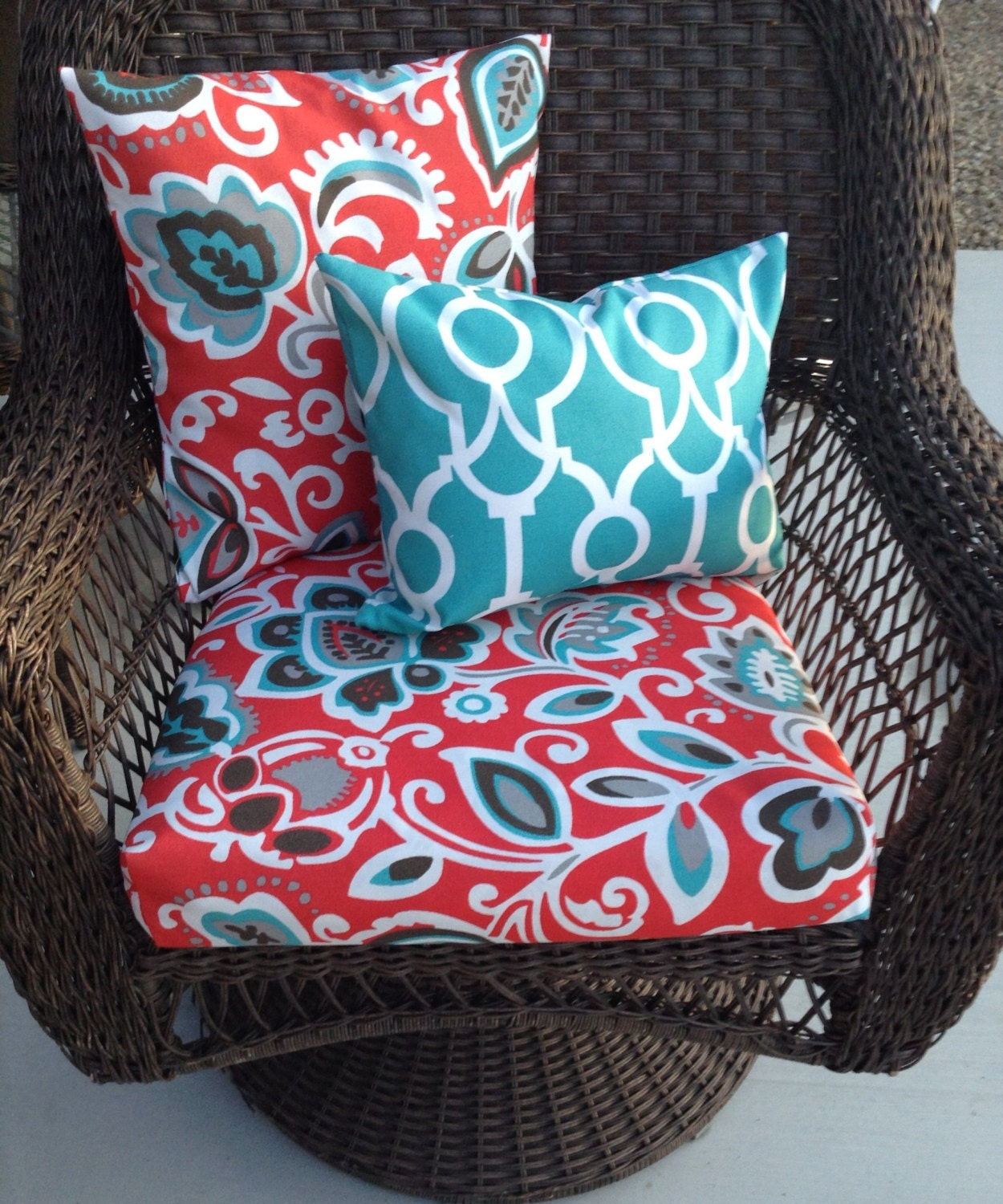 replacement outdoor furniture cushion covers outdoor pillow etsy. Black Bedroom Furniture Sets. Home Design Ideas