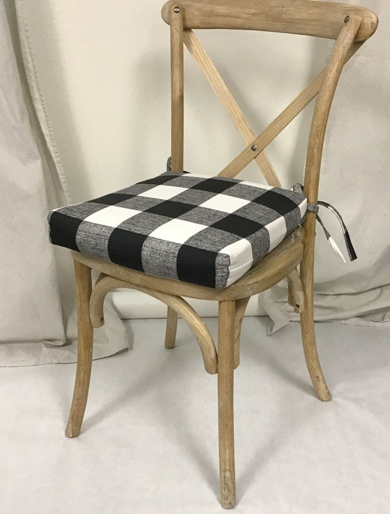 Astonishing Chair Cushions Plaid Black And White Anderson Fabric Rustic Dining Chair Pad Stool Seat Cushion Padded Chair Cushions Bar Stool Cushion Pabps2019 Chair Design Images Pabps2019Com