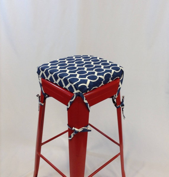 Superb Square Bar Stool Cushion Square Metal Stool Cushion Custom Cushion Cushion Cover With Foam Navy Stool Cushion Machost Co Dining Chair Design Ideas Machostcouk