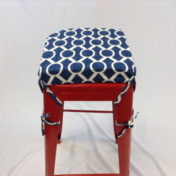 Wondrous Square Bar Stool Cushion Square Metal Stool Cushion Custom Cushion Cushion Cover With Foam Navy Stool Cushion Machost Co Dining Chair Design Ideas Machostcouk