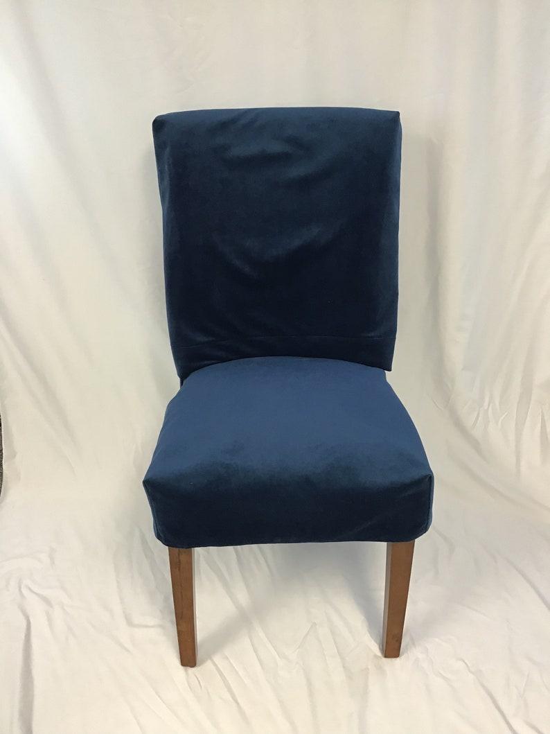 Removable Slipcovers Parson Slipcover Parson Chair Slipcovers Velvet Chair Slipcovers Two piece slipcover