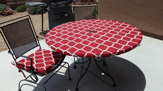 Nappe ronde ajustée pour les repas intérieurs ou extérieurs avec trou  parapluie en option et/ou fermeture éclair pour une application et un  retrait ...