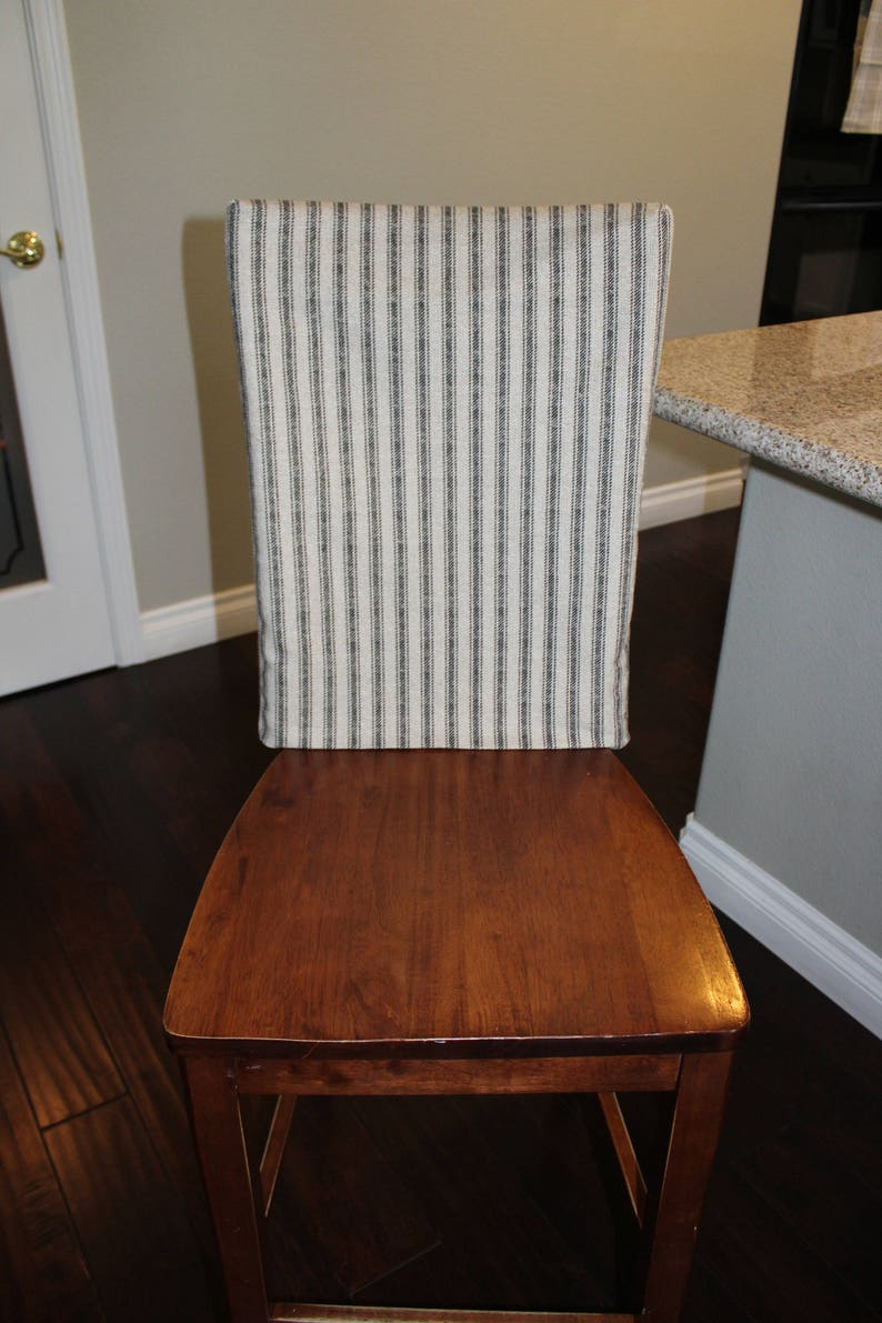 Chair Back Covers Hayes French Ticking Fabric Kitchen Chair Etsy