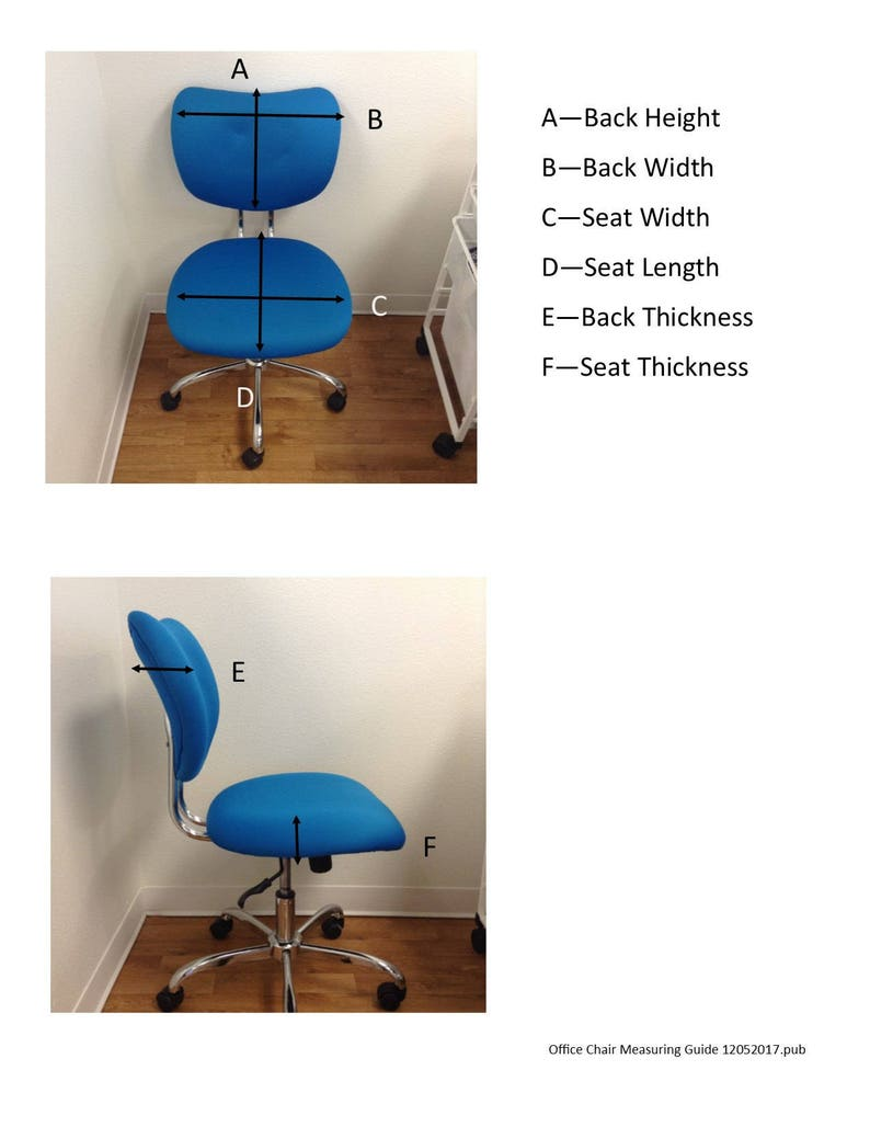 Office Chair seat In stock Item ready for delivery! elasticized chair covers Dorm chair slipcover