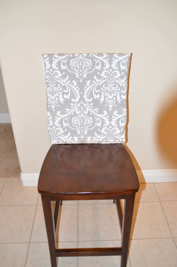 Chair back cover Kitchen chair slipcover dining room chair cover, counter  or bar stool seat back cover Ozbourne Storm Twill