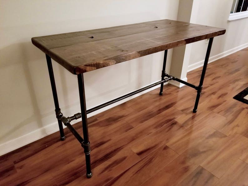 Steel and Wood Desk image 0