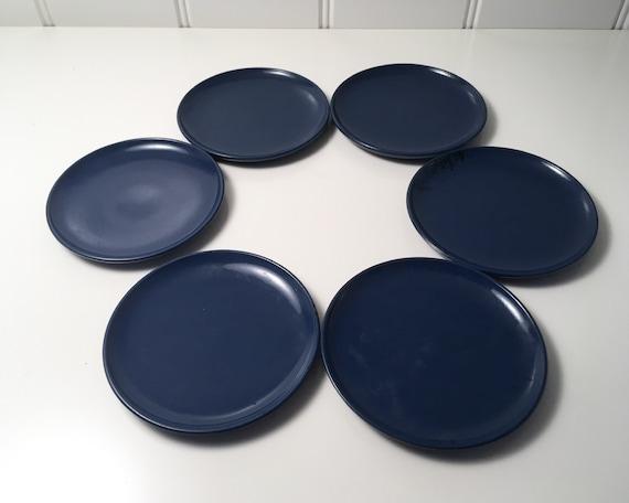 Danish Design coasters - set of 6 blue