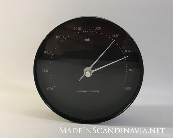 Georg Jensen KOPPEL barometer, black/black - 15 cm