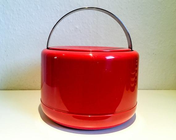 Stelton Ice Bucket - red