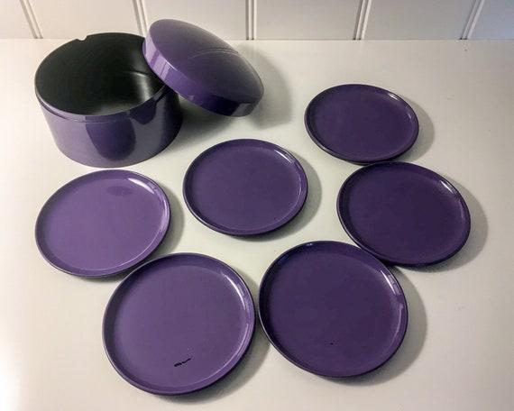 Danish Design Laurids Lønborg coasters - set of 6 - purple