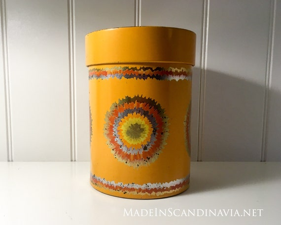 Anita Wangel IRA Orange coffee jar or cookie tin