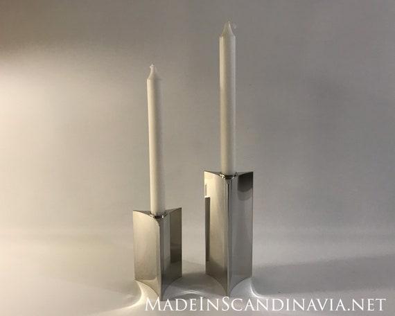 Georg Jensen Verner Panton Pair of Candlestick Starlight