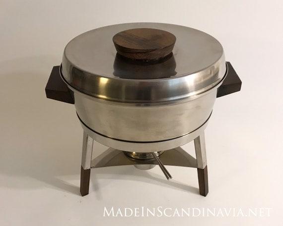 Stelton Fondue Pot Set with rosewood
