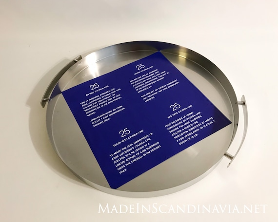 Rare Stelton Cylinda Line special limited edition serving tray -Arne Jacobsen