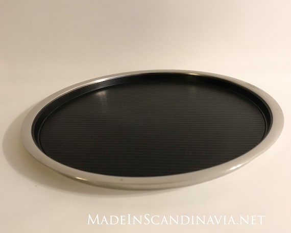Stelton Stainless Steel serving tray with rubber mat