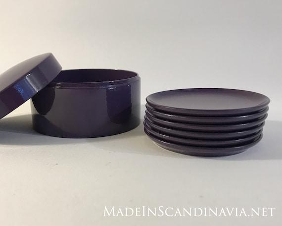 Danish Design coasters - set of 6 purple in box