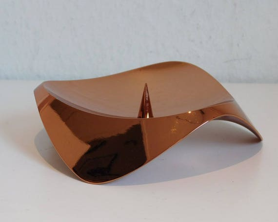 Stelton Papilio Uno candle holder - copper