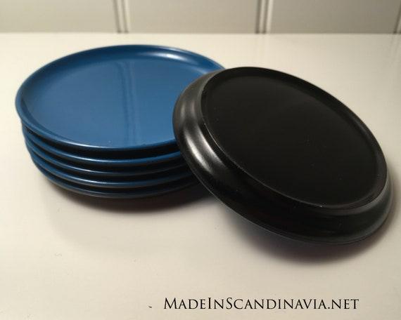 Danish Design coasters - set of 6 turquoise