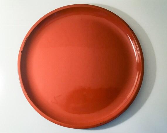 Mid century Danish Design Retro tray - orange