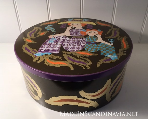 Vintage Kamma Svensson IRA Denmark Large Round Cake Tin