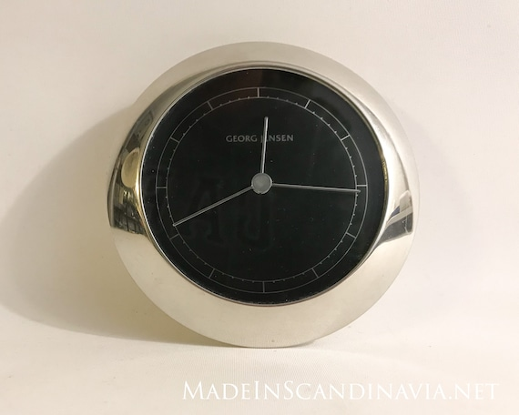 Georg Jensen VENUS clock silver/black