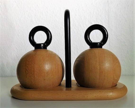 Bodum Nissen Ball salt and pepper grinders - set including tray