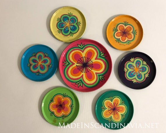 Anita Wangel IRA coasters - set of seven different ones