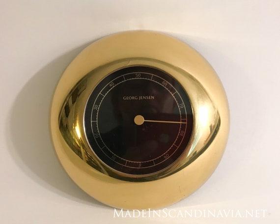 Georg Jensen LUNA hygrometer brass