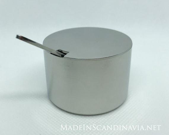 Stelton Cylinda Line Mustard Jar and spoon