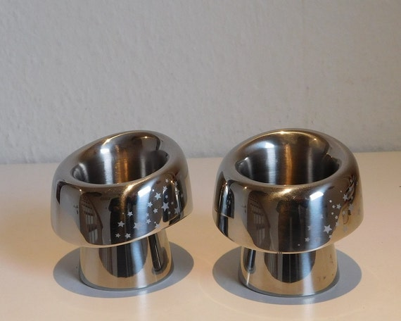 Georg Jensen NORDICA candle holders, pair