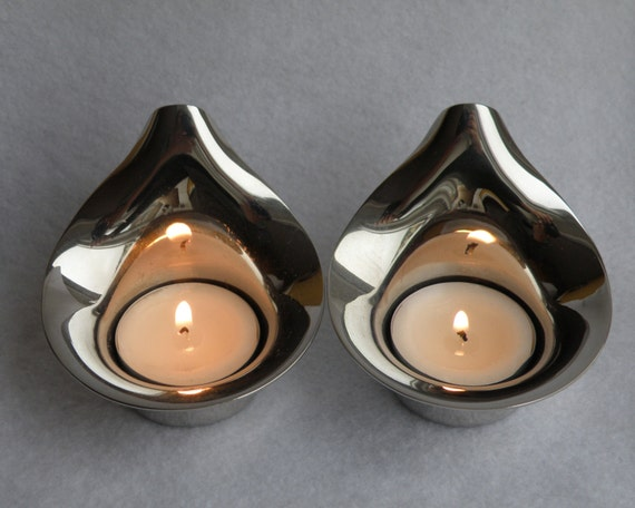 Georg Jensen Lilia tealights - set of two