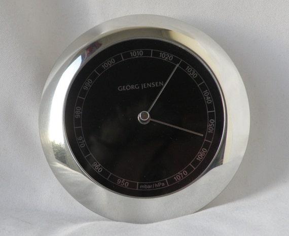 Georg Jensen VENUS barometer silver/black