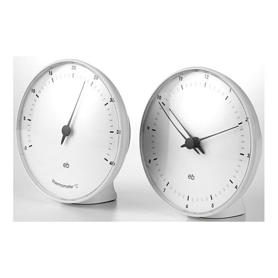 Erik Bagger SEASONS set of clock and thermometer with stands - white