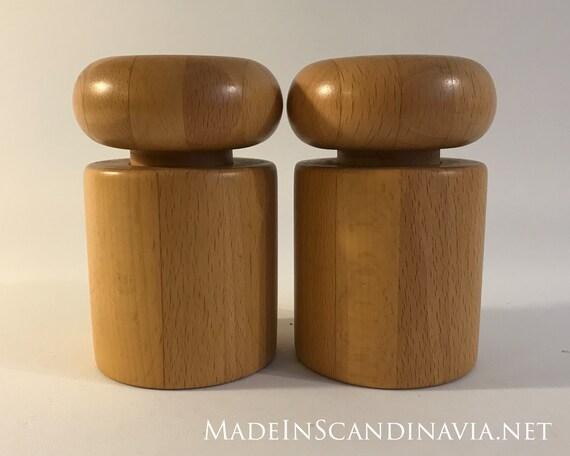 Rare set of retro Nissen salt & pepper grinders