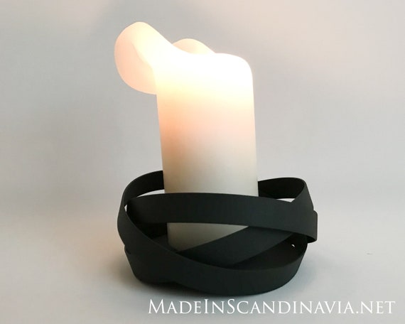 Georg Jensen candleholder RIBBONS - black
